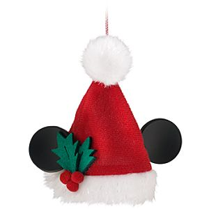 Santa Mickey Mouse Ear Hat Ornament