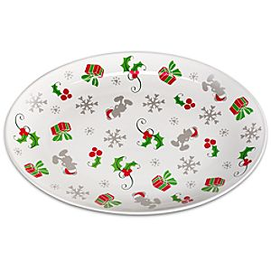 Santa Mickey Mouse Serving Platter