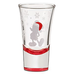 Santa Mickey Mouse Mini Glass -- 2 1/2 oz.