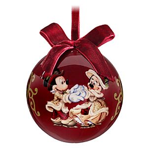Victorian Découpage Minnie and Mickey Mouse Ornament