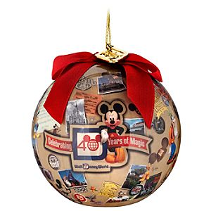 40 Years of Magic Walt Disney World Decopage Ornament