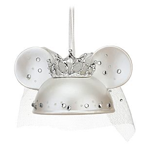 Bride Minnie Mouse Ear Hat Ornament