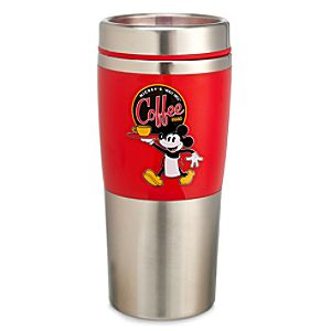 Red Mickey Mouse Coffee Tumbler