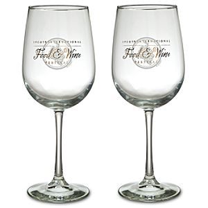 Epcot International Food and Wine Festival Wine Glass Set -- 2-Pc.