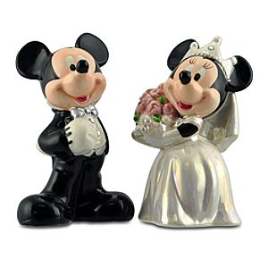 Wedding Minnie and Mickey Mouse Salt and Pepper Set