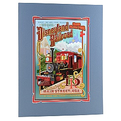 Matted Disneyland Railroad Attraction Poster Print -- 18'' x 14''