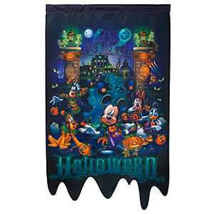 Haunted Mansion Halloween Mickey Mouse Yard Flag