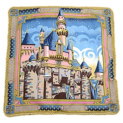 Disneyland Sleeping Beauty Castle Pillow by Jeff Granito