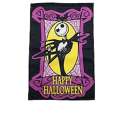 ''Happy Halloween'' Jack Skellington Yard Flag
