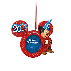 Sorcerer Mickey Mouse Photo Frame Ornament - Walt Disney World 2013