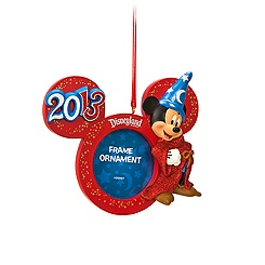 Sorcerer Mickey Mouse Photo Frame Ornament - Disneyland 2013