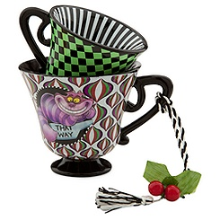 Alice in Wonderland Tea Cup Ornament - The Cheshire Cat