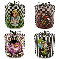 Alice in Wonderland Glass Candle Holder Set
