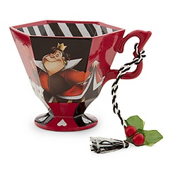 Alice in Wonderland Tea Cup Ornament - The Queen of Hearts
