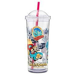 Disney California Adventure Tumbler with Straw