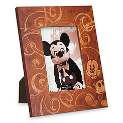 Mickey Mouse Illustrated Wood Photo Frame - 4'' x 6''