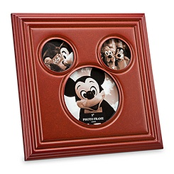 Mickey Mouse Icon Wood Photo Frame - Tri-Window