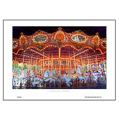 ''Carrousel Horses'' Art Print by Scott Brinegar