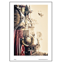 ''Steam, Engine One'' Art Print by Amanda Harvie