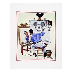 Walt Disney ''Triple Self Portrait'' Art Print by Charles Boyer