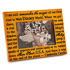 Walt Disney World Wood Photo Frame - 4'' x 6''