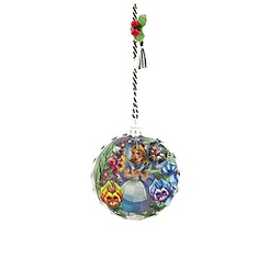 Alice in Wonderland Glass Ornament
