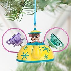 Dormouse Mad Tea Party Ear Hat Ornament