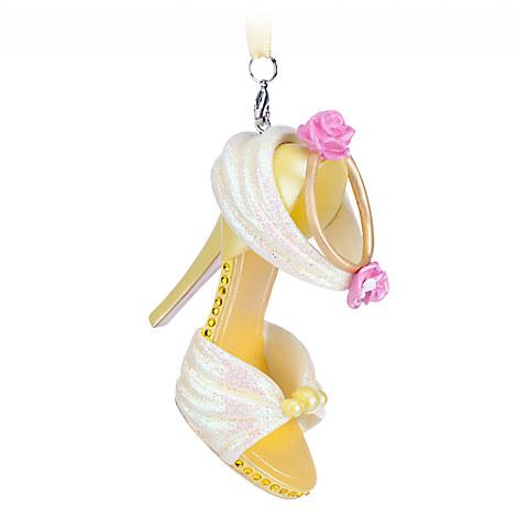 Belle shoe ornament ornaments disney store