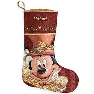 Mickey Mouse Victorian Holiday Stocking - Personalizable