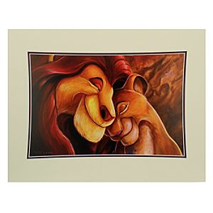 Mufasa and Sarabi ''Pride Love Everlasting'' Deluxe Print by Darren Wilson