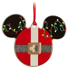 Mickey Icon Ornament - Santa