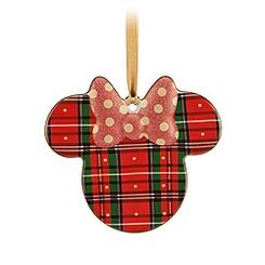 Minnie Icon Ornament - Plaid