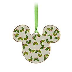 Mickey Icon Ornament - Holly