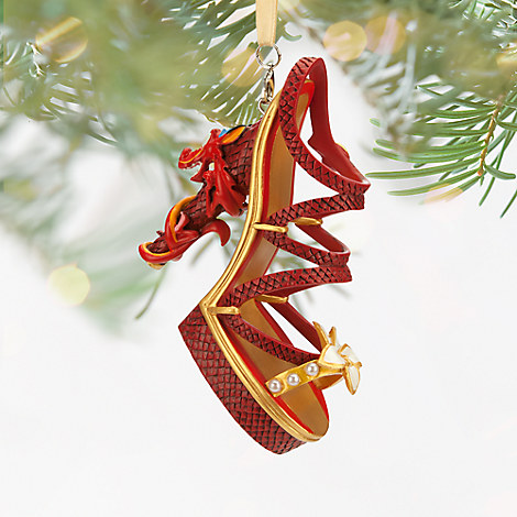 Mushu Shoe Ornament Featuring Artist's Signature