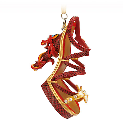 Side View of Mulan Inspired Mushu Shoe Ornament