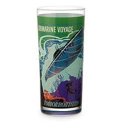 Disney Parks Attraction Poster Tall Glass Tumbler - Space Mountain/Submarine