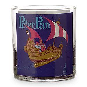 Disney Parks Attraction Poster Short Glass Tumbler - Peter Pan's Flight/Dumbo
