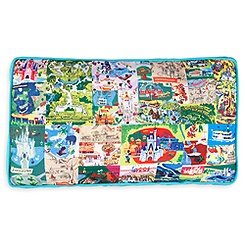 Magic Kingdom Map Pillow