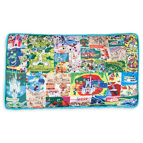 Magic Kingdom Map 2010 Magic Kingdom Map Pillow