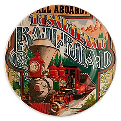 Disney Parks Attraction Poster Plate - Disneyland Railroad - 7''