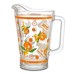 Orange Bird Glass Pitcher