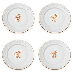 Gourmet Mickey Mouse Dinner Plate Set - White/Pumpkin