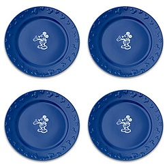 Gourmet Mickey Mouse Dinner Plate Set - Blue/White