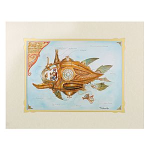 Donald Duck ''Donald's Steam Powered Submarine'' Deluxe Print by Mark Page