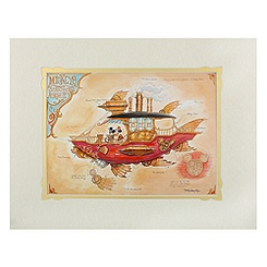 Mickey Mouse ''Mickey's Steam Powered Airship'' Deluxe Print by Mark Page