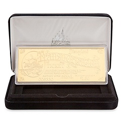 Disneyland Replica 24K Gold Plated Transportation Ticket