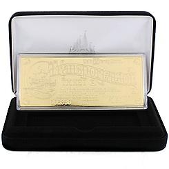 Walt Disney World Replica 24K Gold Plated Transportation Ticket