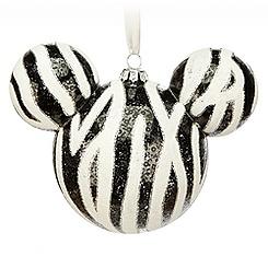 Mickey Icon Ornament - Zebra