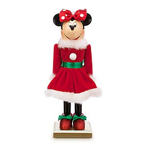 Santa Minnie Mouse Nutcracker Figure - Small