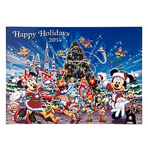 Santa Mickey Mouse and Friends Greeting Cards - Holiday 2014